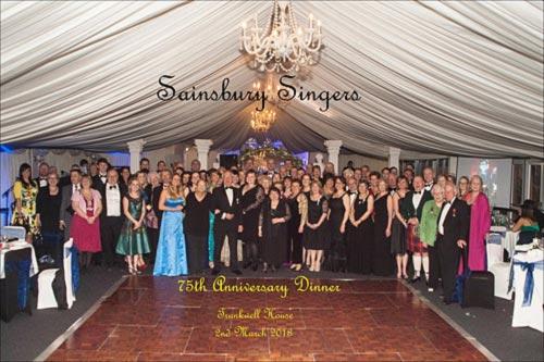 The Sainsbury Singers 75th anniversary gala ball